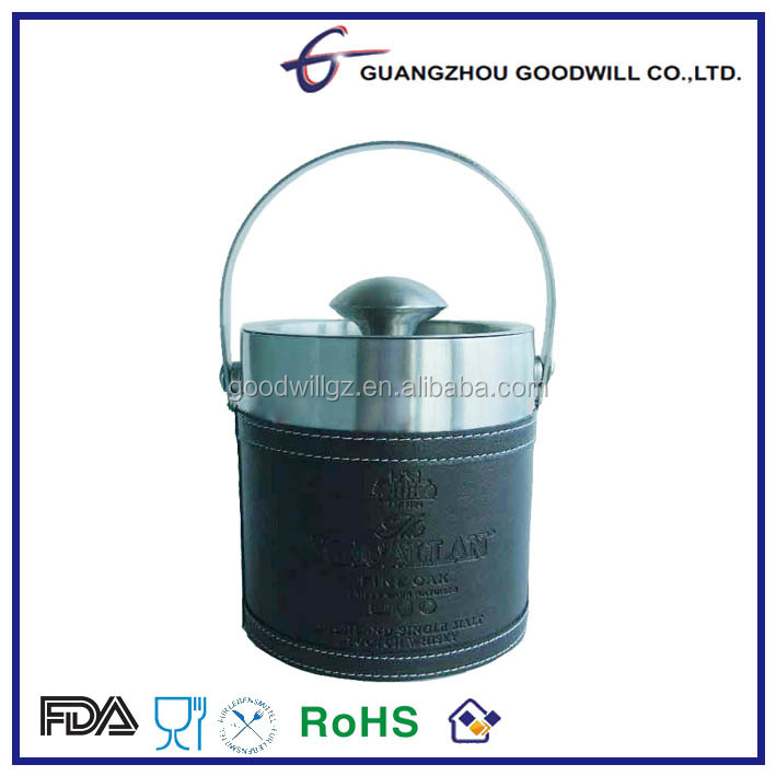 3..0 L Stainless Steel Wine Bucket Series with PU Leather Coating