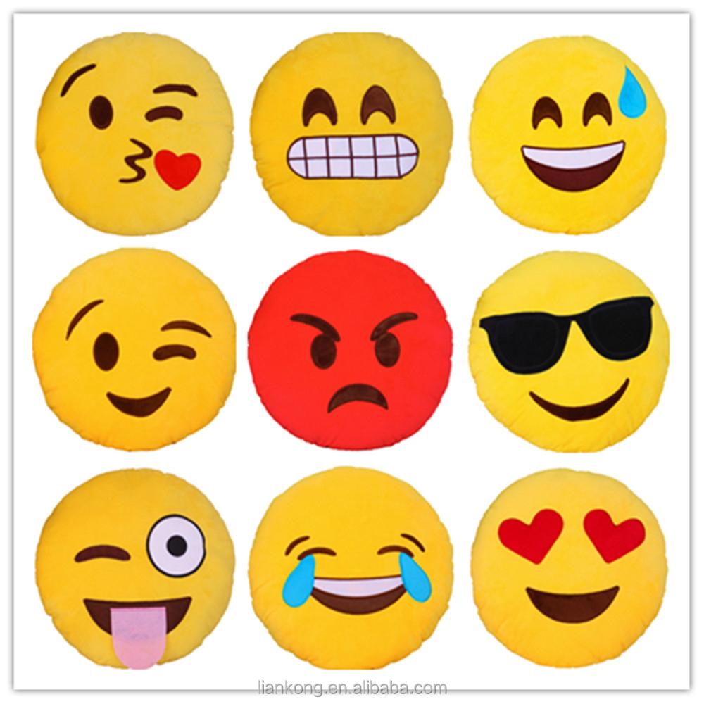 Funny Cartoon Cushion Cover Emoji Design For Cartoon Cushion Cover ...