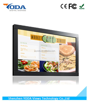 43inch touch screen wall mount commercial TV for chain restaurant menu display