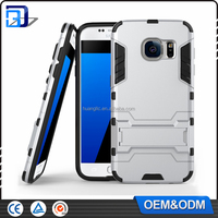 Factory price OEM/ODM shockproof TPU+PC hybrid armor with stand case for Samsung Galaxy S7 edge