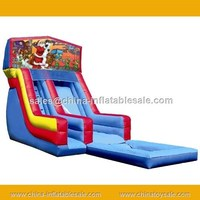 guangzhou china latest Christmas hot sale Santa Claus inflatable slide for pool