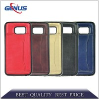 Wholesale Brown Genuine Wallet Flip Leather Phone Case for iPhone 5 5S mobile phone case