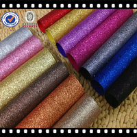 High Quality Grade 3 Glitter Fabric Wallpaper pu coating leather Shiny Leather Wallpaper