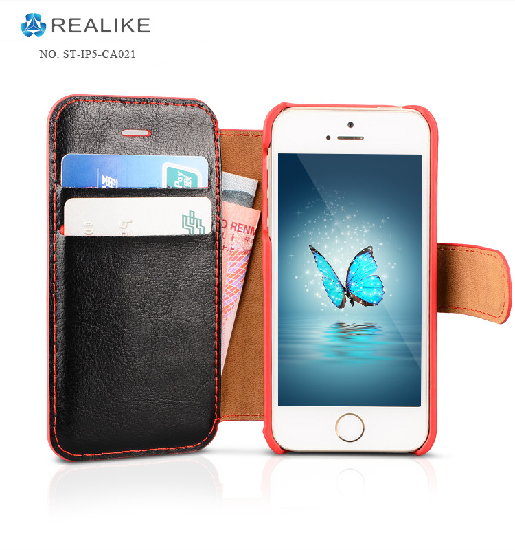 China gold supplier oem leather back cover case wallet wholesale wallet case for iphone 5