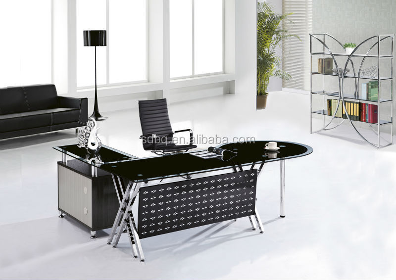 New design glass meeting table computer table office desk design PT-D004