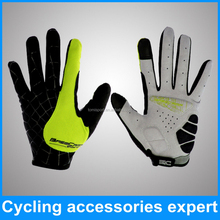 Breathable phone touch screen bicycle bike cycling gloves with long finger