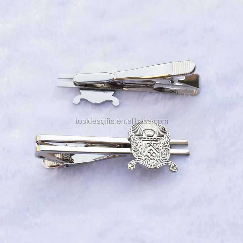 Silver Metal Tie Clip