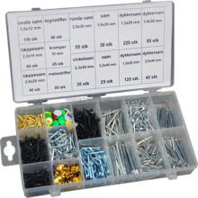 Universal Sizes 1000pc Assorted Standard Common Wire Nail