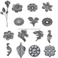 manufacturer stamping flowers design decorative forged cast steel iron components