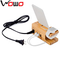 2017 new item wood mobile phone charging station standard phone charger WMC1