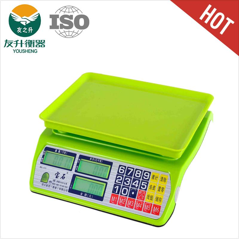 New Model LCD Display 15kg Electronic Balance Scale,Green Light And Good Quality ABS Materials Body,High Accuracy Division