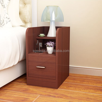 modern style 2 Drawer Storage Design simple small Nightstand Bedroom furniture