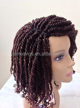 Hand Made Kinky Twists Box Braided LACE artificial wig