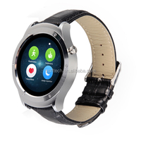 1.22 inch IPS full round bluetooth smart watch oem 2016 heart rate IOS&android