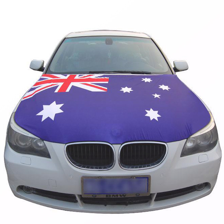 Customized Christmas Waterproof Car Hood Cover Flag