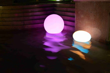 30cm RGB waterproof swimming pool lighting balls/ solar and battery operated LED floating ball