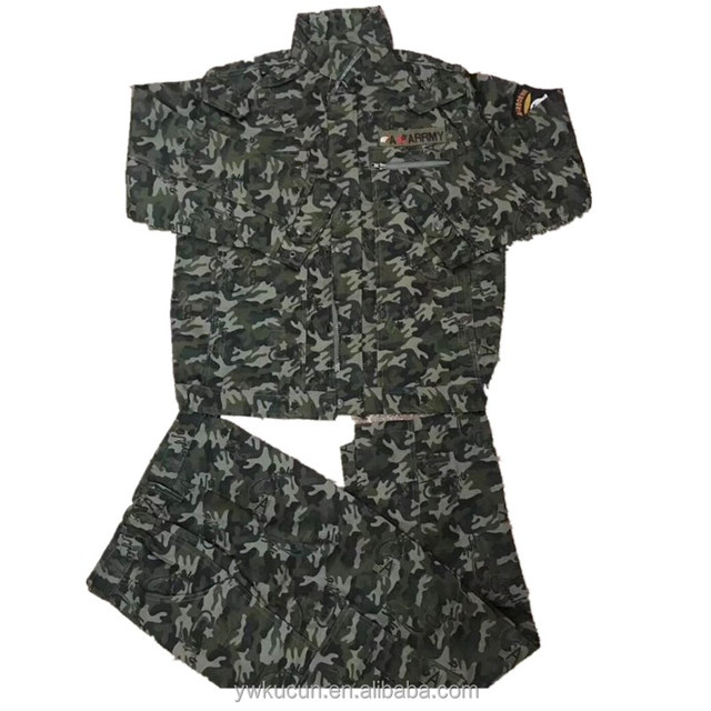 Stock lots camouflage workwear coveralls with front zipper fire retardant work wear clothes