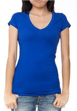 Fresh color ladies' fit t-shirts OEM custom comfortable summer cotton t-shirts