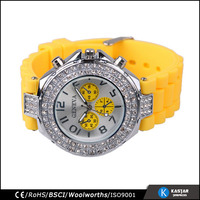 create your own brand geneva watches luxury chronograph silicon watch