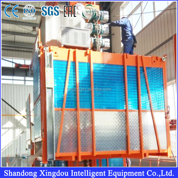 SS100 high quality 1ton single cage sample construction materials hoist