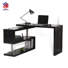 Extension 360 degree rotary computer desk swival study table for student SOHO computer table with shelf