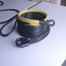 9.5mm black dyneema sk75 synthetic winch rope
