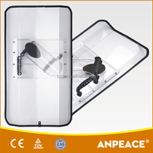 Edge-folded Rectangular PC Anti Riot Shield For Sale DP-A06