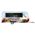 double-layer stainless steel food trailer customized food trailer chinese food trailer