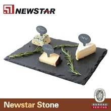 Newstar wholesale natural black slate cheese board