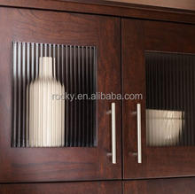 ROCKY BRAND 4mm 5mm ribbed glass for kitchen cabinets