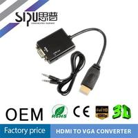 SIPU mini/micro/male vga to hdmi converter cable