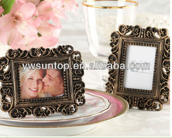 "small order ""Ornate"" Antique Gold Place Card Holder/Photo Frame wedding table favor"