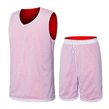 Guangzhou wholesale sportwear 100 mesh polyester summer outdoor fitness mens colorful reversible Custom Basketball Jersey