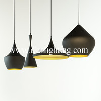 Tom Dixon modern italy style black aluminum chandelier from china supplier