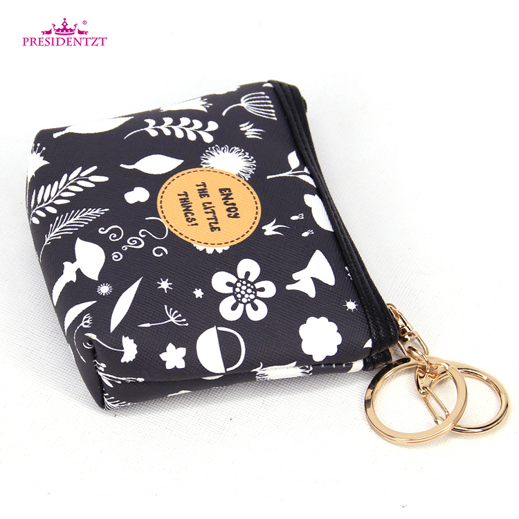 Portable Small Size Fashion Design PU Leather Ladies Coin Purse