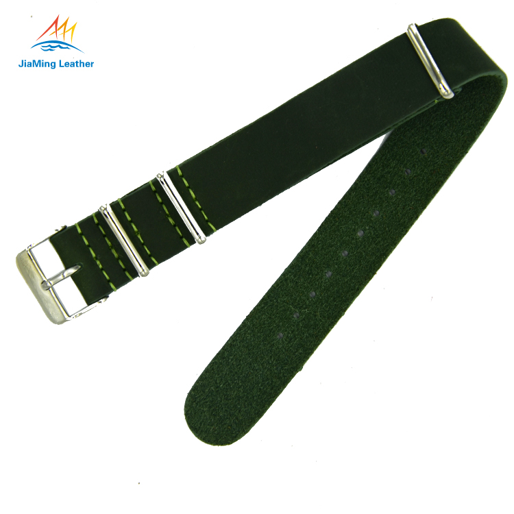 Crazy Horse Leather Zulu Strap Watch Band