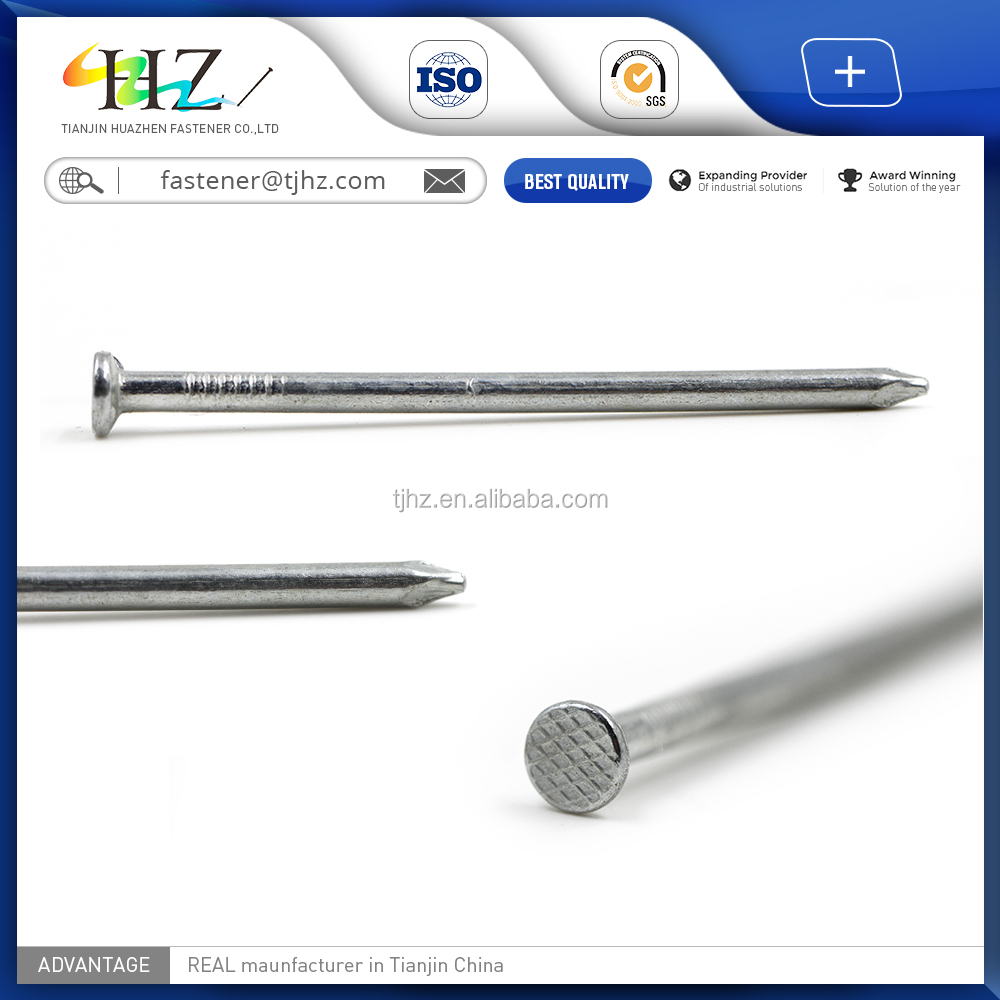 2017 High Quality 13MM to 254MM Flat Head Common Wire <strong>Nail</strong>