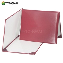 A4 Paper Customised PU Leather Certificate Holder Degree Diploma File Folders