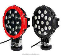 SEMA Member Auto Lighting Popular offroad 51W led work light led driving lights round 7 inch for off road