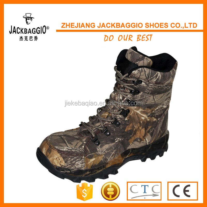 China manufacturer high cut steel toe army boots