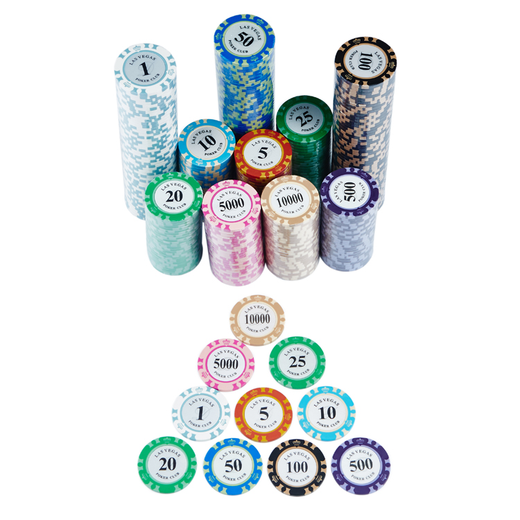 Plastic Poker Chips Casino Chips Custom Afdrukken clay poker chip