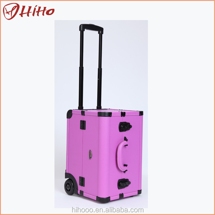 New Arrival Aluminum Rolling Train Antique Cosmetic Case