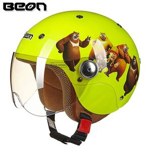 BEKC21 Motorcycle cute children's summer half helmet motorcycle child safety helmet for sale