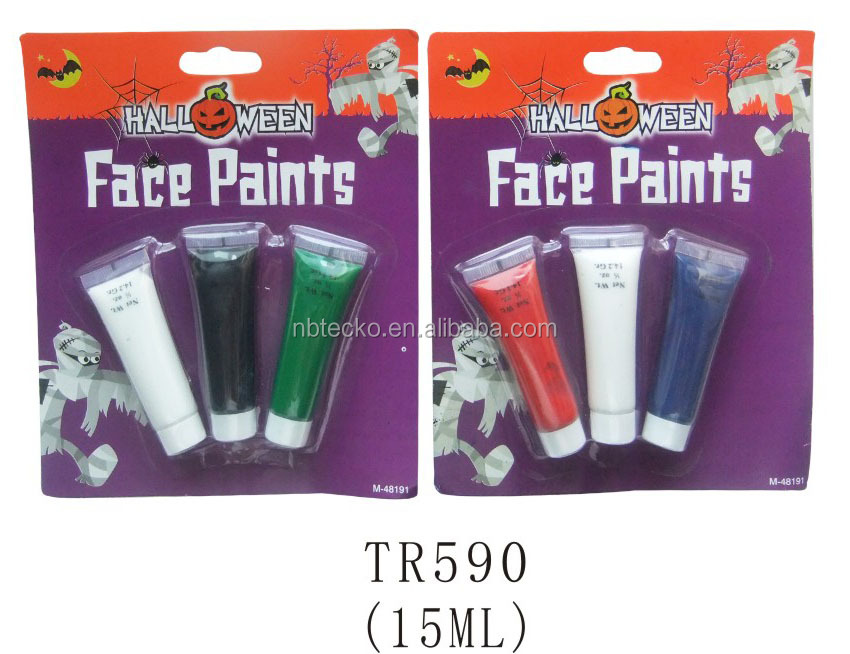 Halloween party eco-friendly 3 colors makeup face paints set
