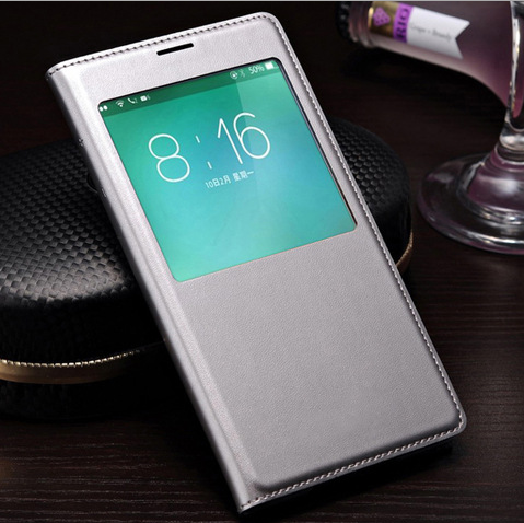 flip cover view window leather case for samsung galaxy s5 mini