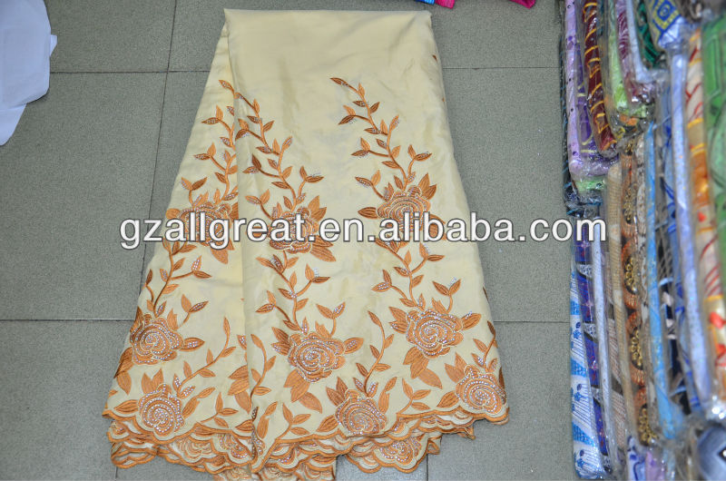 african raw silk george fabric/african lace george/raw silk george wrappers