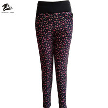 indian 2017 sexy mature women sweat pockets printed leggings