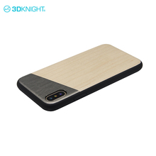 Maple wood + alloy + tpu thin fit hard case for iphone x stylish mobile back covers
