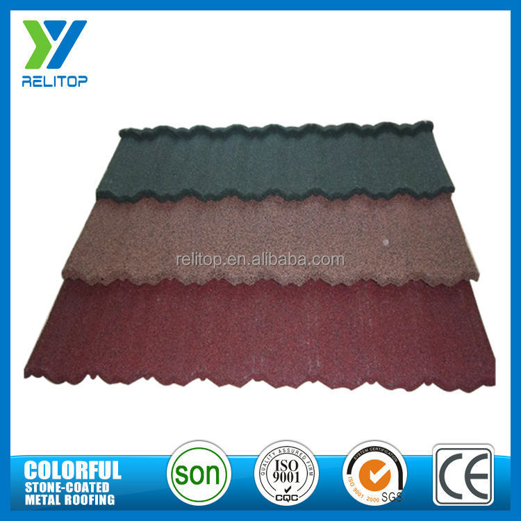 Stone chip coated steel roofing sheets/colorful roof tile