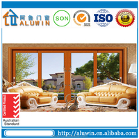 Luxury heavy duty 4 panels aluminum sliding door with Good design .